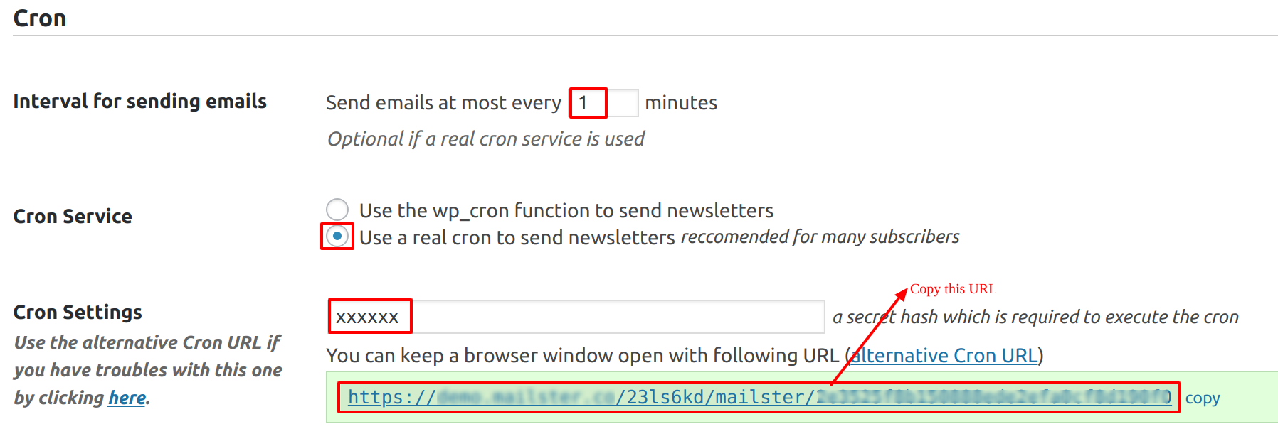 How to set up cron job for Mailster - Email Newsletter